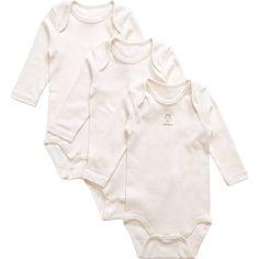 Naturapura - Organic Ivory Bodysuits (3 Pack)   Childrensalon