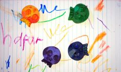 melting crayons {skulls}