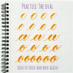 basic strokes: oval - lettering tutorial, tutoriel pour le lettering, trucs et astuces pour le lettering