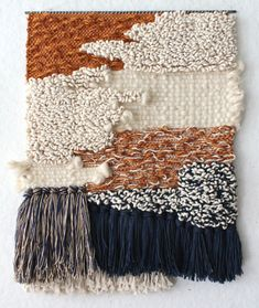 Y&Y weaving by All Roads/california creative studio. Weaving Textiles, Weaving Art, Tapestry Weaving, Loom Weaving, Hand Weaving, Rug Texture, Textile Texture, Textile Fiber Art, Weaving Wall Hanging