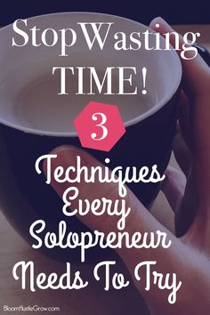 3 Productivity Techniques To Be More Productive. As a solopreneur you have to find what works for you and make your days as productive as possible. More Productivity Equals Less Stress. Check out these tips to make that happen.