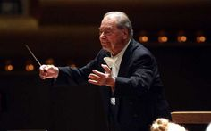 De Burgos leading the New York Philharmonic in Carmina Burana, May 2012. I was sorry to learn of his death today - I attended many concerts conducted by this remarkable conductor.