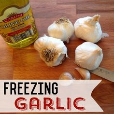 Love garlic? Try these easy garlic and olive oil frozen ice cubes. They are simple to make and you can just throw them in with any dish.