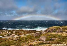 Cape Spear, NL, during Tropical Storm Ophelia...so pretty!  Cape Spear is the most easterly point in ALL of North America