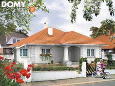 Venus Parterowy dom przeznaczony dla 4-osobowej rodziny. - Jesteśmy AUTOREM - DOMY w Stylu Bungalow House Plans, Better Homes, My House, Gazebo, Interior Decorating, Sweet Home, 1, Outdoor Structures, Patio