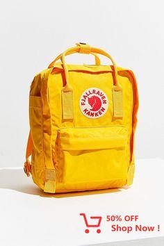 Urban Outfitters Fjallraven Kanken Mini Backpack - Frost Green + Pink One Size Mini Backpack, Kanken Backpack, Vans Mochila, Cute Backpacks, School Backpacks, Travel Style, Travel Fashion, School Supplies, Fashion Backpack