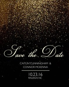 NYE Themed Save The Date by HCGraphics on Etsy
