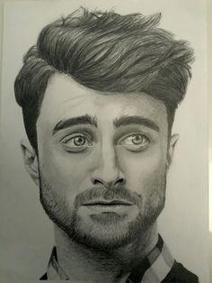 Harry Potter Portraits, Harry Potter Artwork, Harry Potter Drawings, Boy Sketch, Human Sketch, Nose Drawing, Guy Drawing, Pencil Art Drawings, Art Drawings Sketches