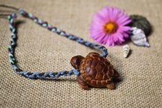 Funky Turtle  Avocado Seed   Handcarved  Vegan-Friendly