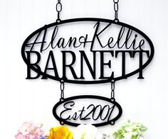 Custom Outdoor House Sign with Established Metal Sign - Personalized Wedding Gift. $129.95, via Etsy.