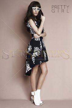 PrettyGirl Lily Pad Black Dress