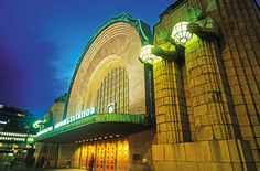 The Helsinki Central Railway Station in Finland  Image Credit: Getty Images