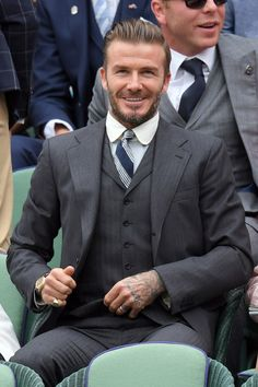 Beckham never disappoints when he turns up to watch a Wimbledon match (then again, does the man ever disappoint?).