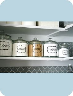 Holy cuteness. Now I want to buy jars for my baking supplies just so I can outfit them with these labels.