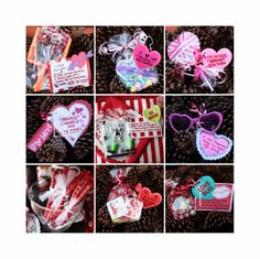 ~12 Valentine party favor ideas for your  kids with matching rhyme and party favors for a class party~ {by crafty2thecore.com}