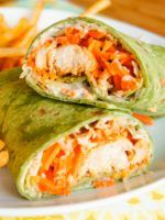 These easy Buffalo Chicken Wraps come together quickly and will please the whole family!