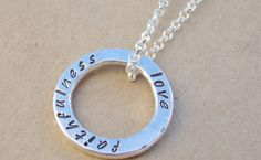 Let Love & Faithfulness Never Leave You Sterling by tsojewelry