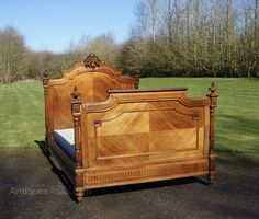 French Louis XV Rococo Double Bed - Antiques Atlas