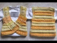 Luke-warm, relaxed, useful baby vests. Baby Boy Knitting Patterns, Knitting Designs, Knit Patterns, Free Knitting, Baby Knitting, Crochet Baby, Knit Vest, Baby Cardigan, Youtube Design