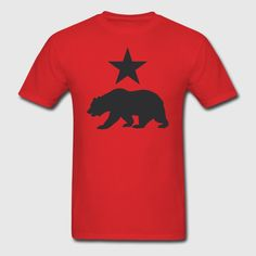 California Republic Grizzly Bear Shirt - Men's T-Shirt California Republic, Mens Tees, Neck T Shirt, Bear, Tattoo, Silk, Table, Shirts, Bears
