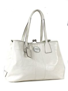 Of Coach Signature Leather Patent Framed Carryall Bag Love This