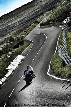 The TT Clasic due to start 2014. Rider: Michael Niblett