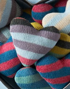 Knitted Heart...stuffed with lavender. Great idea.