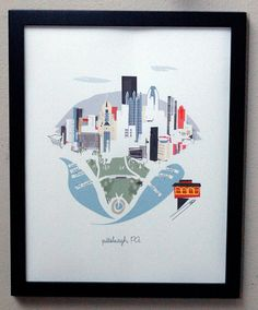 Pittsburgh by albiedesigns on Etsy