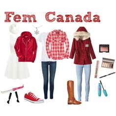 """""""Fem! Canada"""" by anime-couture on Polyvore"""