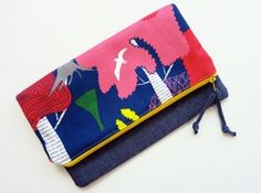 Simple, fun Zippered Clutches by Alex
