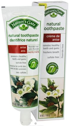Natures Gate - Natural Toothpaste Creme de Anise