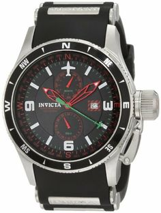 1a96a387020 Invicta Men s 1750 Aviator Flight Black Dial Black Polyurethane Watch  Invicta.  109.00. Flame-fusion crystal  brushed stainless steel case  ...