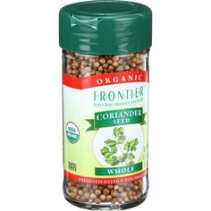Frontier Herb Coriander Seed Organic Whole 1.31 Oz