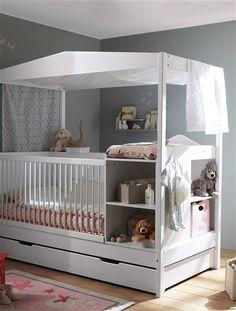 Un lit original et fonctionnel pour bébé !