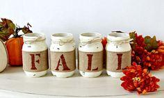 Rustic Fall Table Home Decor, Farmhouse Table Decor Gift Idea – Jarful House