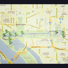 Click through for an interactive map of how to #ridecolorfully though the National Mall!