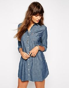 Levis | Levi's Denim Shirt Dress at ASOS | Denim outfit, Denim ...