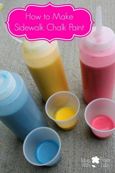 How to Make Sidewalk Chalk Paint - Mom. Wife. Busy Life.