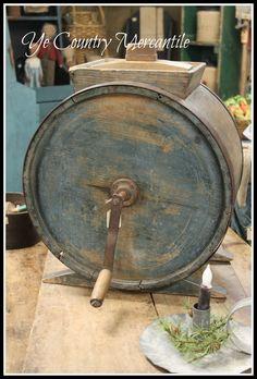 Antique Primitive Dazey 3 Gallon Metal Butter Churn Model