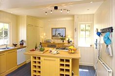 Awesome Dream Cottage with Ocean View : Small Minimalist Whitstable Cottage Kitchen Interior Design Ideas