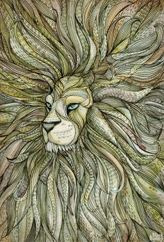 lion face- simplify the mane and this would make a beautiful tattoo