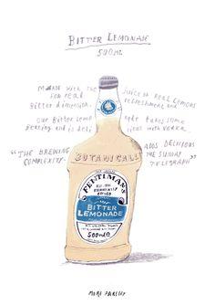 BITTER LEMONADE, FENTIMANS, illustration by moreparsley MOREPARSLEY.COM