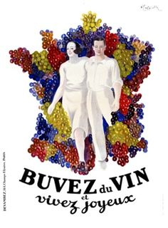 Buvez du Vin poster art by Cappiello.