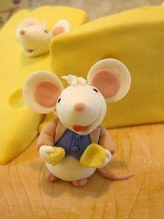 Mice & Cheese Porcelana fria polymer clay pasta francesa masa flexible fimo modelado modelling figurine topper fondant by ark.perezgomez