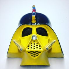 War Vader  Custom hand painted upcycled Darth Vader by Tiltcycle