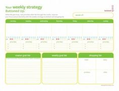 Tool: Free Printable Weekly Strategy Worksheet   Buttoned Up