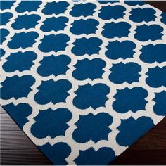 I'd love to try and stencil an IKEA LYDUM rug like this for an outdoor porch.
