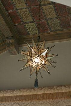 Ceiling light at Hearst Castle