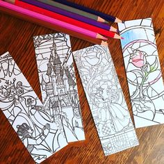Updates from MirkwoodScribes on Etsy Disney Coloring Pages, Adult Coloring Pages, Fun Crafts For Kids, Arts And Crafts, Creative Bookmarks, Book Marks, Mandala Art, Love Book, Art World