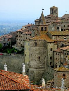 medieval walled town in Anghiari, province of Arezzo, Tuscany, Italy